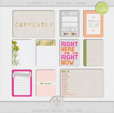Free Journal Cards from Sabrina Dupre Designs {on Facebook - part of The Lilypad Currently Blog Hop}