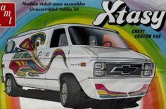 AMT Xtasy Chevy Custom Van box art