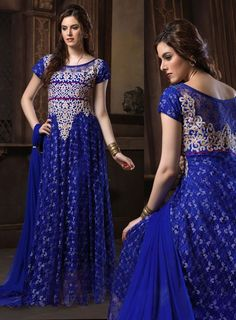 Appealing Egyptian Blue Gown http://ethanica.myshopify.com/products/appealing-egyptian-blue-gown #readymadesalwar #readymadegowns