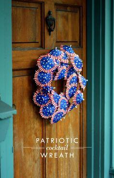 Patriotic Cocktail Wreath
