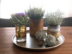 Herbst auf dem Esstisch - mit cognacfarbenen Vasen von Dutz Collection