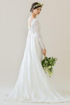 Original Vintage 60's wedding dress Edwena by PaperswanBride