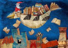 Pinzellades al món Christmas Illustration, Children's Book Illustration, Subject Of Art, Library Art, Book Corners, Reading Art, Magic Book, Book Images, I Love Books