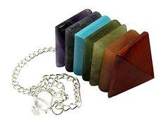 7 Stone Pyramid Chakra Pendulum, Amethyst,turquoise,jade,lapis,topaz, Reiki New handmade. http://www.amazon.com/dp/B00LS8B6RO/ref=cm_sw_r_pi_dp_y1u9wb1WEXDRJ 13.00