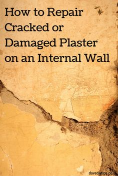 How to repair water damaged wall plaster do it yourself help how to repair cracked or damaged plaster here at httpdavesdiytips200907wall plaster repair solutioingenieria Image collections