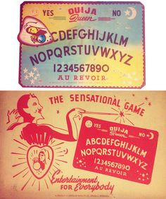 This fancy board is the colorful version of the Ouija Queen created by the American Novelty Company of South Omaha, Nebraska in the early 1940s.  This board comes with the box which is in rough condition on the sides but both the top and bottom panels are nearly undamaged. The board has quite a...