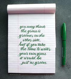 Brush Calligraphy with Pentel Fude Touch Sign Pen – kwernerdesign blog