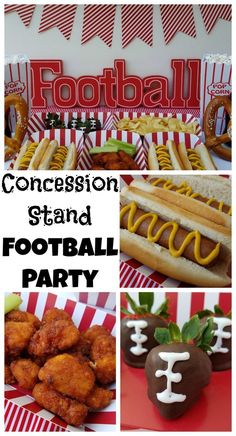 Football Birthday Party Food Kids Concession Stands Unique Concession Stand Themed Football Party Making Time For Mommy Kids Football Parties, Football Party Decorations, Kids Sports Party, Football Birthday, Sports Birthday, Football Banquet, Football Tournament, Sports Baby, Soccer Party