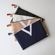 Clutches inspired by Korean hanbok by Leesle