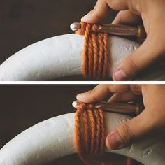 crochet wreath tutorial  I want to try this! Maybe for a nice fall wreath (since I'm probably not going to get around to it until next year...)