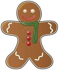 Image result for christmas gingerbread man clipart