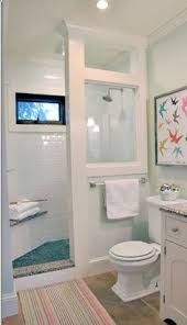 walk in shower without door doorless shower modern farmhouse cottage chic love this shower for a small bathroom