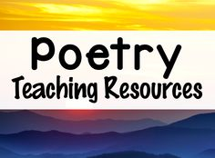 Looking for Poetry Teaching Resources? You'll find them on this Pinterest board!