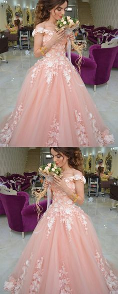 Prom Dresses Split, Coral Lace Embroidery Off Shoulder Tulle Quinceanera Dresses For Sweet 16 HoCo Bridal Coral Lace Embroidery Off Shoulder Tulle Quinceanera Dresses For Sweet 16 Quince Dresses, Ball Dresses, Evening Dresses, Ball Gowns, Prom Dresses, Wedding Dresses, Chiffon Dresses, Dress Prom, Long Dresses