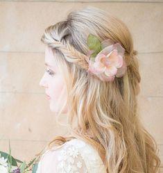 frances pink silk hair flower by chez bec   notonthehighstreet.com
