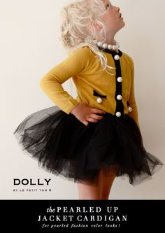 DOLLY by Le Petit Tom ® PEARLED JACKET CARDIGAN gold-light yellow