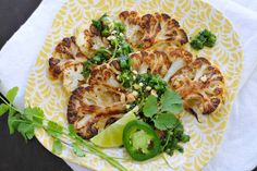 Thai Style Roasted Cauliflower Steaks {Guest Post From The Pig and Quill} Veggie Recipes, Great Recipes, Salad Recipes, Favorite Recipes, Thai Recipes, Delicious Recipes, Easy Recipes, Dinner Recipes, Healthy Recipes