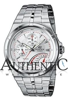 518e0ca1307 Casio EF325D-7AV Watch Edifice Mens - Silver Dial
