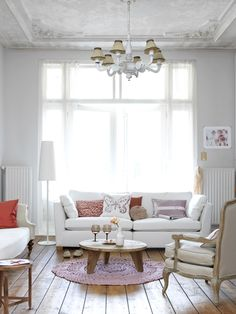 White with touches of color