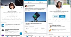 LinkedIn's redesigned app, which was first previewed in October, makes the app look more like Facebook and other social media apps.