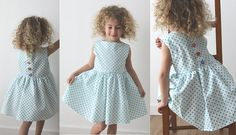DIY - Jolie robe rétro à découvrir sur http://cours-couture.com/fr/patrons-couture-enfant/122-patron-robe-fillette-retro.html