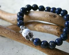 Meditation Yoga Bracelet Lapis Lazuli And by SunnyBeachJewelry, $22.99