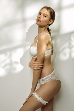 Lace detail and delicate designs bridal lingerie by Reger by Janet Reger