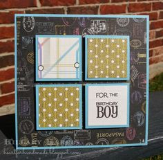CTMH Wanderful paper pack with Verve Birthday Bash stamp set. Sketch N Scrap National Card Month challenge