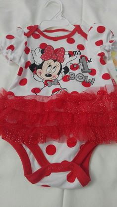 separation shoes 34ffc 3e810 My 1st Bow Disney Baby Minnie Mouse One Piece Bodysuit 3-6 months girls