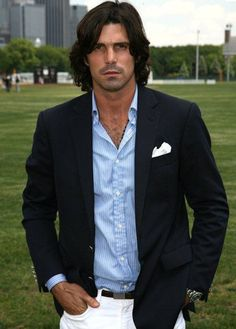 nacho figueras- argentinian polo player, member of the us black watch polo team, ralph lauren model, discovered by bruce weber at a party in the hampton's