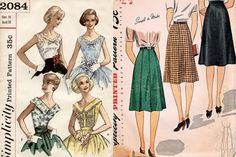 ADORED VINTAGE: 10 Vintage Sewing Patterns from the 1940s & 1950s by Simplicity