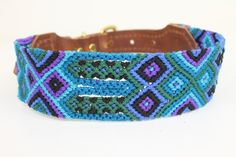 handwoven seiba dog collar