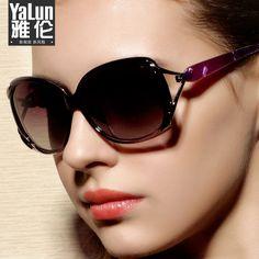 a9f391f37e free Real Shipping Sunglasses Polarized Sun Glasses Fashion Women Large Big  Box All-match Brand