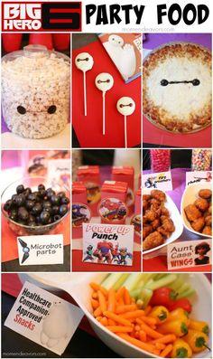 Disney Big Hero 6 Party – decor, fun food, and activity ideas! Disney Big Hero 6 Party – decor, fun food, and activity ideas! Big Hero 6 Party Ideas, Big Party, Ideas Party, Comida Disney, Disney Food, Disney Cars, Big Hero 6 Baymax, 6th Birthday Parties, 3rd Birthday