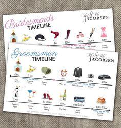 Bridesmaids & Groomsmen Big Day Timeline ... ...