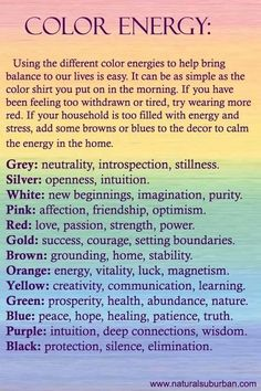 color energy guide