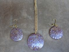 Polymer clay necklace earrings set Polymer clay by UniquelyArdath, $25.99