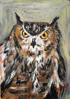 My owl painting :)
