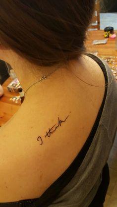My first tattoo! Charles Darwin's handwriting from his original notebook…