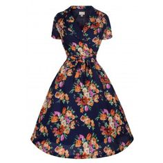 Beatrice Navy Floral Tea Dress  5807401d3e