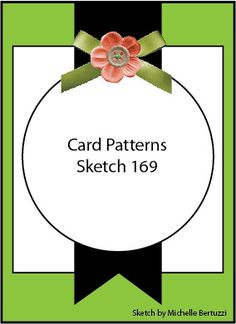 CARD PATTERNS - Sketch 169 | Clare's creations