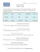1000  images about Starters - Adjectives on Pinterest | An ...