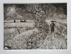 Snow Lane   etching and aquatint hand printed by the by Keith Andrew, £49.00