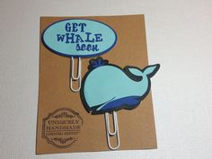 Get Whale Soon/ Paper Clips/ Planner Clips/Sky Blue/ Navy Blue/Glam Planner/ BookMarks/ Gift Item/ Happy Planner/ Hand Crafted