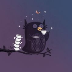 The Owl's Cup Of Tea + Illustrations | NaBHaN