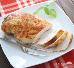 How To Bake Chicken Breast THANK YOU! bake boneless skinless breasts for 20mins @450 then transfer, loosely cover w/foil let rest for 5mins