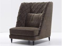 Upholstered fabric armchair CHLOE   Armchair - Nube Italia