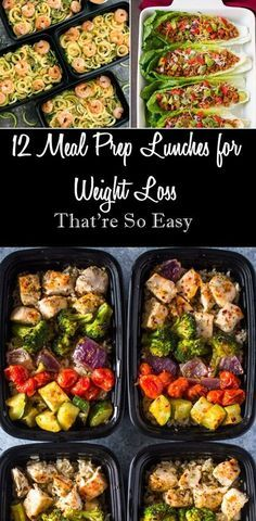 12 Meal Prep Lunch Ideas for Weight Loss That're So Easy from DIY Bunker #mealprep #weightloss Clean Eating Snacks, Healthy Eating, Clean Eating Recipes For Weight Loss, Eating Raw, Healthy Drinks, Healthy Recipes, Healthy Meals, Diet Drinks, Protein Recipes