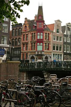 Amsterdam, Netherlands When there, watch out for bicyclists since they have the right of way. And they are used a lot!