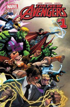 New Avengers (2015) #1 #Marvel #NewAvengers (Cover Artist: Gerardo Sandoval) Release Date: 10/14/2015